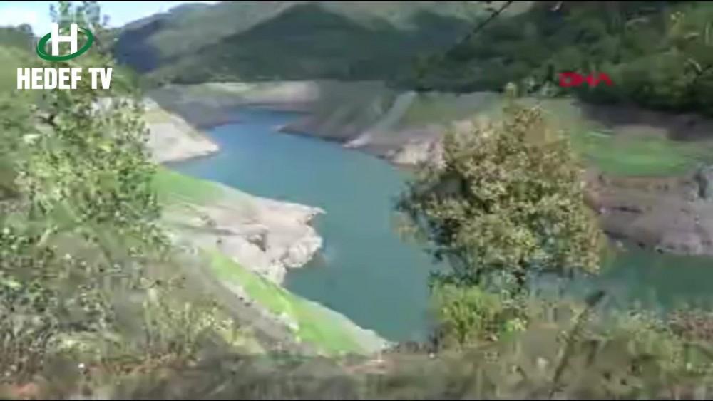 Yuvacık Barajı'nda su seviyesi düştü, suyun altındaki köprü ortaya çıktı