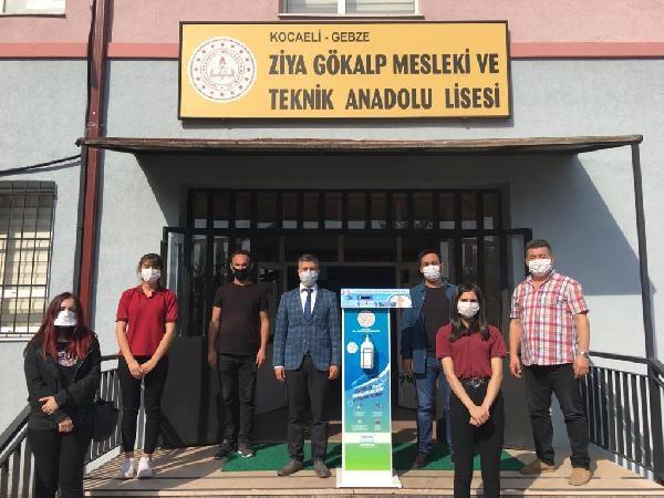 Gebze'de Ateş ölçümü ve dezenfektanın bir arada olduğu ünite üretildi